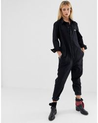 7d02b09d00a1 One Teaspoon - Utility Gothic Embroidery Jumpsuit - Lyst