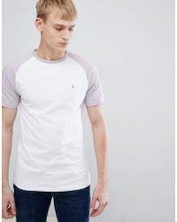 Farah - Zemlak Slim Fit Reglan Sleeve T-shirt In Lilac - Lyst