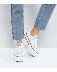 Converse - Zapatillas de deporte blancas con plataforma Ox Chuck Taylo All Star de - Lyst