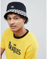 Pretty Green - X The Beatles Heywood Reversible Bucket Hat In Black - Lyst