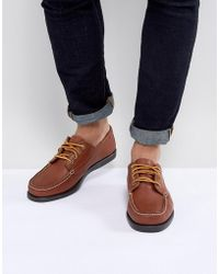 Eastland - Falmouth Leather Boat Shoes In Tan - Lyst