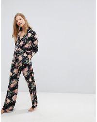 Y.A.S - Co-ord Bloom Print Pyjama Bottom - Lyst