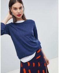 Esprit - Oversized Round Neck Lightweight Sweater - Lyst