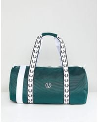 Fred Perry - Track Barrel Bag In Green - Lyst