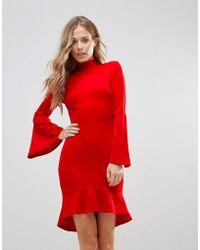 Oh My Love - Pephem Midi Dress With Flare Sleeve - Lyst