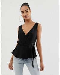 ASOS - Wrap Cami With Buckle Detail - Lyst