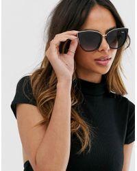 Quay - Honey Cat Eye Sunglasses In Black - Lyst