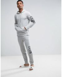 CALVIN KLEIN 205W39NYC - Raw Cut Joggers In Slim Fit With Bold Logo - Lyst