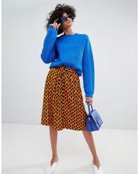 Vero Moda - Spotted Midi Skirt - Lyst