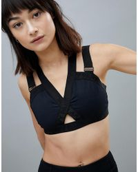Ivy Park - Active Strappy Harness Bra In Black - Lyst