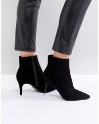 Dune - London Pull On Heeled Sock Boot In Black - Lyst