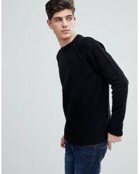 Mango - Man Textured Knit Sweater In Black - Lyst