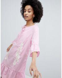 Oeuvre - Smock Dress With Peplum Hem - Lyst
