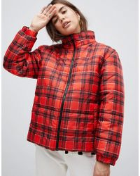 Daisy Street - Padded Jacket In Check - Lyst