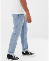 Hollister - Slim Fit Light Wash Jeans - Lyst