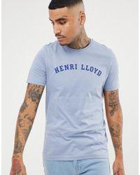 Henri Lloyd - Ragian Logo T-shirt In Grey - Lyst