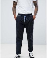 Volcom - Noa Stripe Chino In Black - Lyst