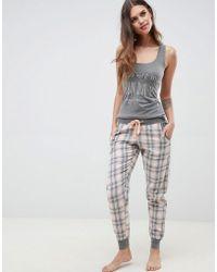 Boux Avenue - Sunday Vest & Pant Pyjama Set - Lyst