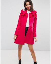ASOS - Skater Coat With Frills - Lyst