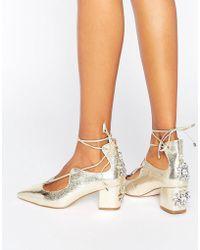 ASOS - Saloon Bridal Embellished Heels - Lyst