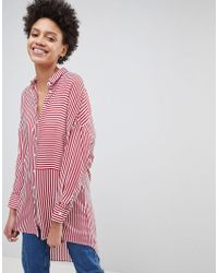 Stradivarius - Oversized Stripe Shirt - Lyst