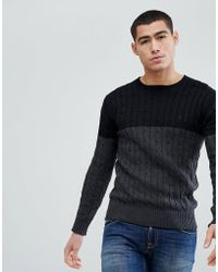 Cable Knit Block Jumper - Black French Connection 2018 Newest Cheap Online Sale Looking For u8O2bRQE2