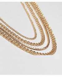 ASOS DESIGN - Chain Pack In Gold Tone - Lyst
