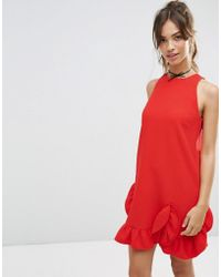 ASOS - Extreme Frill Shift Dress - Lyst