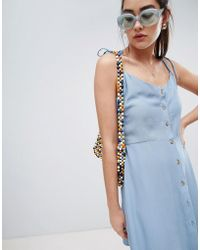 New Look - Button Through Strappy Sundress - Lyst
