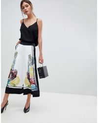 Ted Baker - Wide Leg Culottes In Tranquility Floral - Lyst