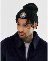 177a9150 Ellesse - Yaan Beanie With Stamp Logo In Black - Lyst