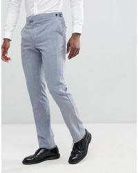 Reiss - Slim Wedding Suit Pants In Wool Mix - Lyst