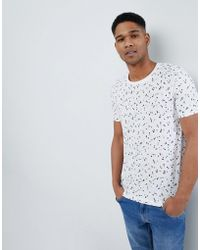 SELECTED - T-shirt With All Over Ditsy Print - Lyst