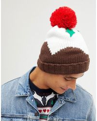 de525aa97a6 New Look - Holidays Pudding Beanie In Brown - Lyst