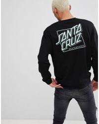 Santa Cruz - Sweatshirt With Squared Back Print In Black - Lyst