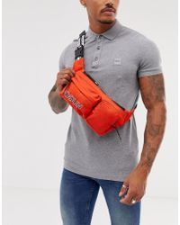 HUGO - Record Cross Body Bag In Orange - Lyst