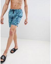 Blend - Palm Print Swim Shorts - Lyst