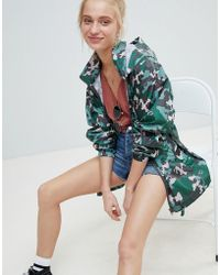ASOS - Rainwear Jacket With Bumbag In Camo Print - Lyst