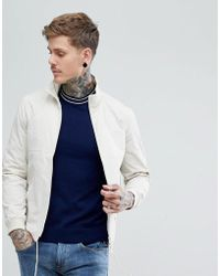 Fred Perry - Lightweight Tonal Sports Jacket In Off White - Lyst