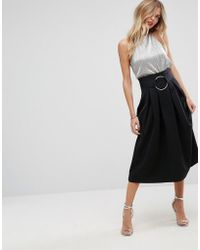 ASOS - Scuba Prom Skirt With Circle Belt - Lyst