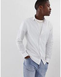 SELECTED - Camisa de lino de corte Slim - Lyst