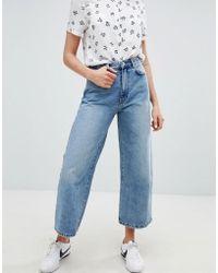 Pull&Bear - Wide Leg Denim Jean In Blue - Lyst