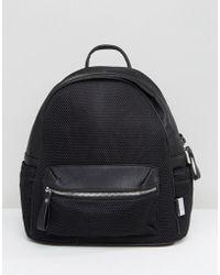 LAMODA - Mesh Backpack In Black - Lyst