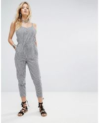 Honey Punch - Relaxed Cami Jumpsuit In Gingham - Lyst