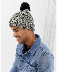 Lyst - Ted Baker Multhat Bobble Beanie With Multi Stitch in Red for Men ca2b8b6efc3b