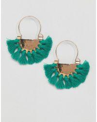 Glamorous - Green Multi Tassel Earrings - Lyst