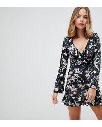 Missguided - Floral Mini Dress - Lyst