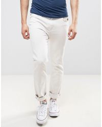 Lee Jeans - Rider Slim Fit Jeans Off White Wash - Lyst