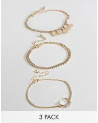 Missguided - Horn Charm Anklet Multipack - Lyst
