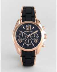 Michael Kors - Mk6580 Bradshaw Watch With Silicone & Metal Strap - Lyst